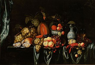 Still life with fruit and shellfish