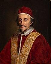 Peinture représentant le Pape Innocent XI de trois-quart face
