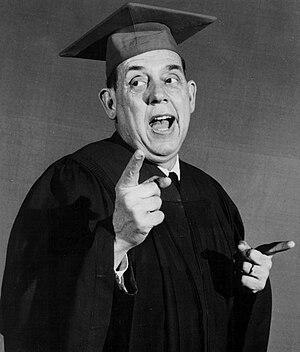 Professor Backwards - Edmonson as Professor Backwards.