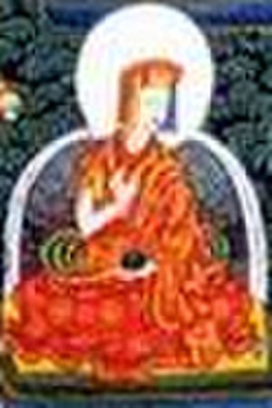 Jamgon Kongtrul - Jamgon Kongtul (1902-1952?? 1813-1899) depicted on Kagyu Refuge Tree thangka.