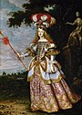 Jan Thomas - Infanta Margaret Theresa, Empress, in theater dress.jpg