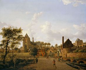 The South-West Approach to the Town of Veere with the Groote Kerk