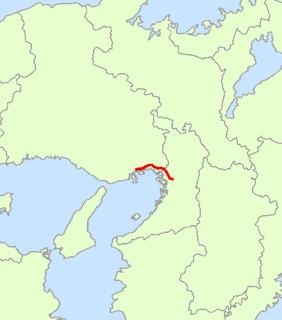 Japan National Route 43 road in Japan