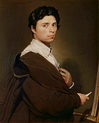 Jean Auguste Dominique Ingres: Self-portrait at twenty-four