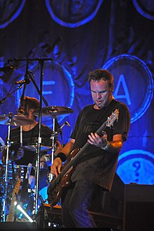 Ament performing with Pearl Jam in 2009