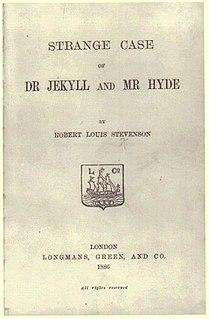 <i>Strange Case of Dr Jekyll and Mr Hyde</i> novella by Robert Louis Stevenson