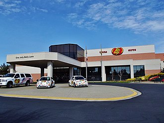 Jelly Belly - Entrance to the Fairfield factory and visitor's center