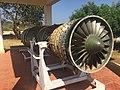 Jet engine (front view) at Biju Patnaik Aeronautical Museum.jpg