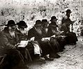 Jewish men pray at the Wailing Wall, 1929.jpg