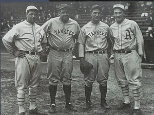 Al Simmons - (Left-to-right) Jimmie Foxx, Babe Ruth, Lou Gehrig and Simmons
