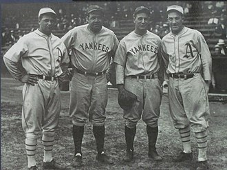 Major League Baseball All-Star Game - 1933 AL All-Stars - Jimmie Foxx, Babe Ruth, Lou Gehrig, and Al Simmons