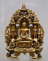 Jina Parsvanatha with entourage, Gujarat, Western India, 12th century AD, brass - Ethnological Museum, Berlin - DSC01587.JPG
