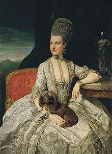 Marie Christine von Österreich, Herzogin von Sachsen-Teschen (um 1776) (Quelle: Wikimedia)