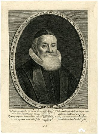 Johannes Polyander - Johannes Polyander, 1641 engraving.