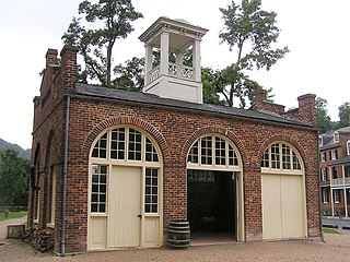 John Browns Fort Building in Harpers Ferry, West Virginia, United States