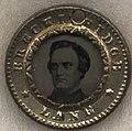 John Cabell Breckinridge campaign small pendant in 1860, from- Breckinridge-Lane Campaign Items, ca. 1860 (4359373079) (cropped).jpg