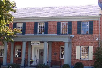 Raritan, New Jersey - General John Frelinghuysen House, now the Raritan Public Library