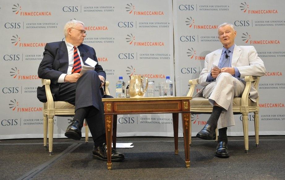 John Hamre and Zbigniew Brzezinski 20131002