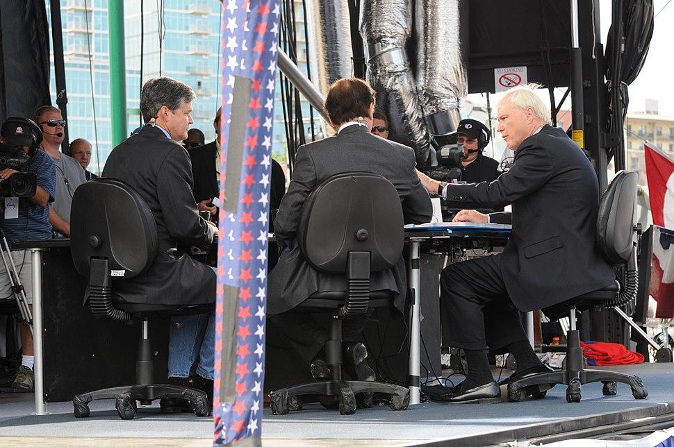 John Harwood and Howard Fineman being interviewed on HARDBALL (2008)