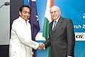 John Howard shaking hands with the Union Minister for Commerce and Industry, Shri Kamal Nath at the Australia-India Business Luncheon, jointly organised by CII, FICCI and ASSOCHAM, in New Delhi on March 6, 2006.jpg