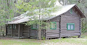 National Register of Historic Places listings in Charlton County, Georgia - Image: John M Hopkins Cabin, Charlton county, GA, US