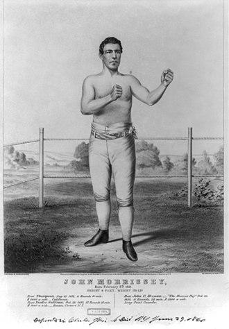 John Morrissey - John Morrissey as a boxer