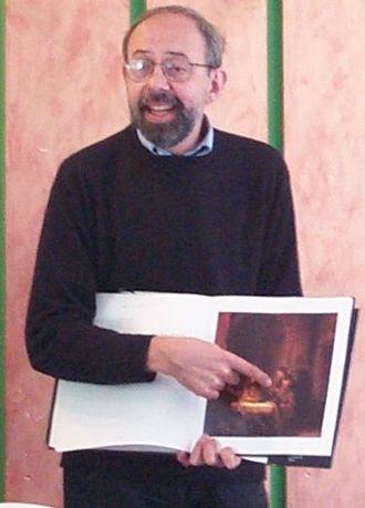 John Muddiman - Muddiman in 2006  explaining The Supper at Emmaus by Rembrandt van Rijn