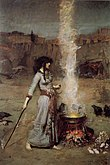John William Waterhouse - Magic Circle.JPG