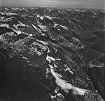 Johns Hopkins Glacier, tidewater glacier terminus and hanging glaciers, August 26, 1979 (GLACIERS 5527).jpg
