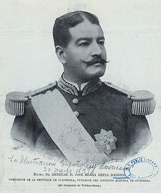 Guatemalan presidential election, 1892 - Image: José María Reina Barrios, 1897