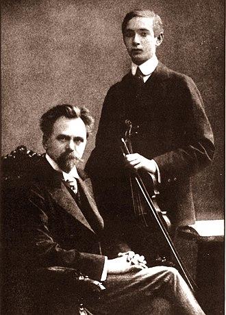 Joseph Szigeti - Hubay (left) and Szigeti, c. 1910