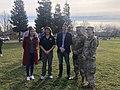 Josh Harder with service men and women in Turlock, California 03.jpg