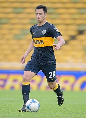 Juan Sánchez Miño - Sánchez playing for Boca Juniors