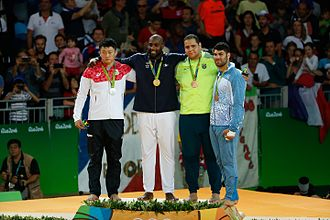 Judo at the 2016 Summer Olympics – Men's +100 kg - Medalists