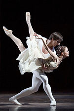 Jurgita Dronina and Olaf Kollmannsperger in Romeo and Juliet 2007.jpg