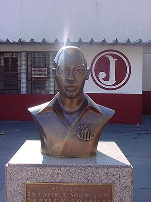 Estádio Rua Javari - Pelé Bust on Rua Javari.