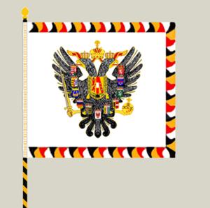 Imperial-Royal Landwehr - Obverse of the k.k. Landwehr's regimental colours
