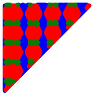 Knaster–Kuratowski–Mazurkiewicz lemma - Image: KKM generalized example