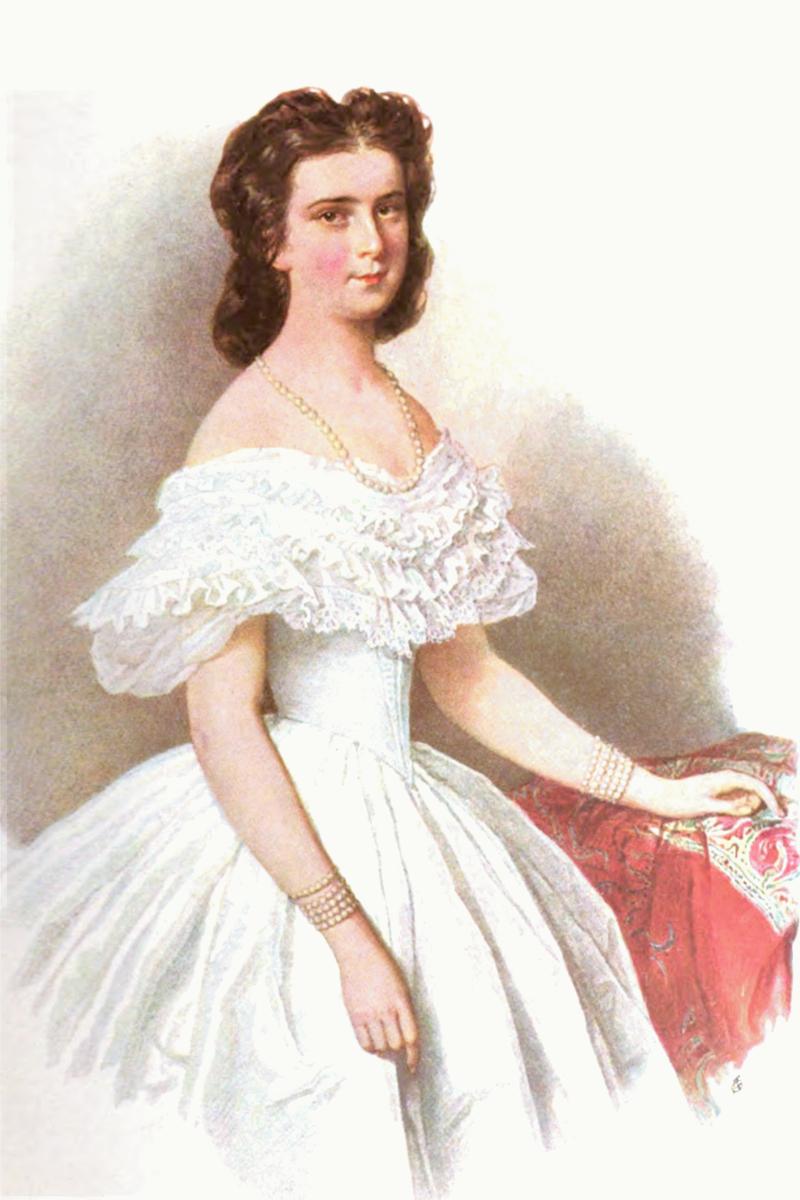 Kaiserin Elisabeth von Österreich 1865 Jos. Kriehuber (Aquarell).png