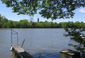 Kankakee River - View of the river from Kankakee, Illinois, near Cobb Park