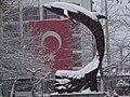 Kar altında yunus ve bayrak - panoramio.jpg