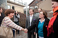Karen Ellemann (V) miljominister och minister for nordiskt samarbete Danmark halsar pa Minna Lindberg president Ungdomens Nordiska rad (UNR).jpg