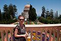 Karen at the Baha'i Gardens, Haifa (3757251188).jpg