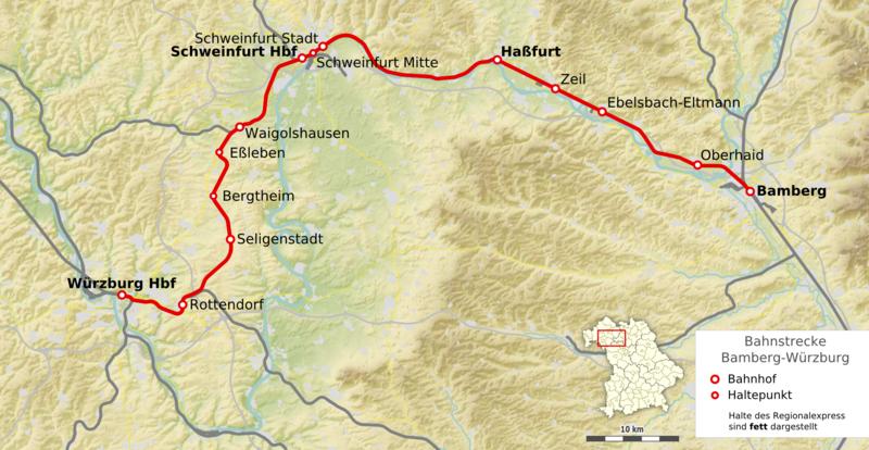 Datei Karte Bahnstrecke Bamberg U2013w U00fcrzburg Png  U2013 Wikipedia