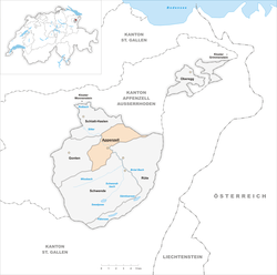 Location of Appenzell