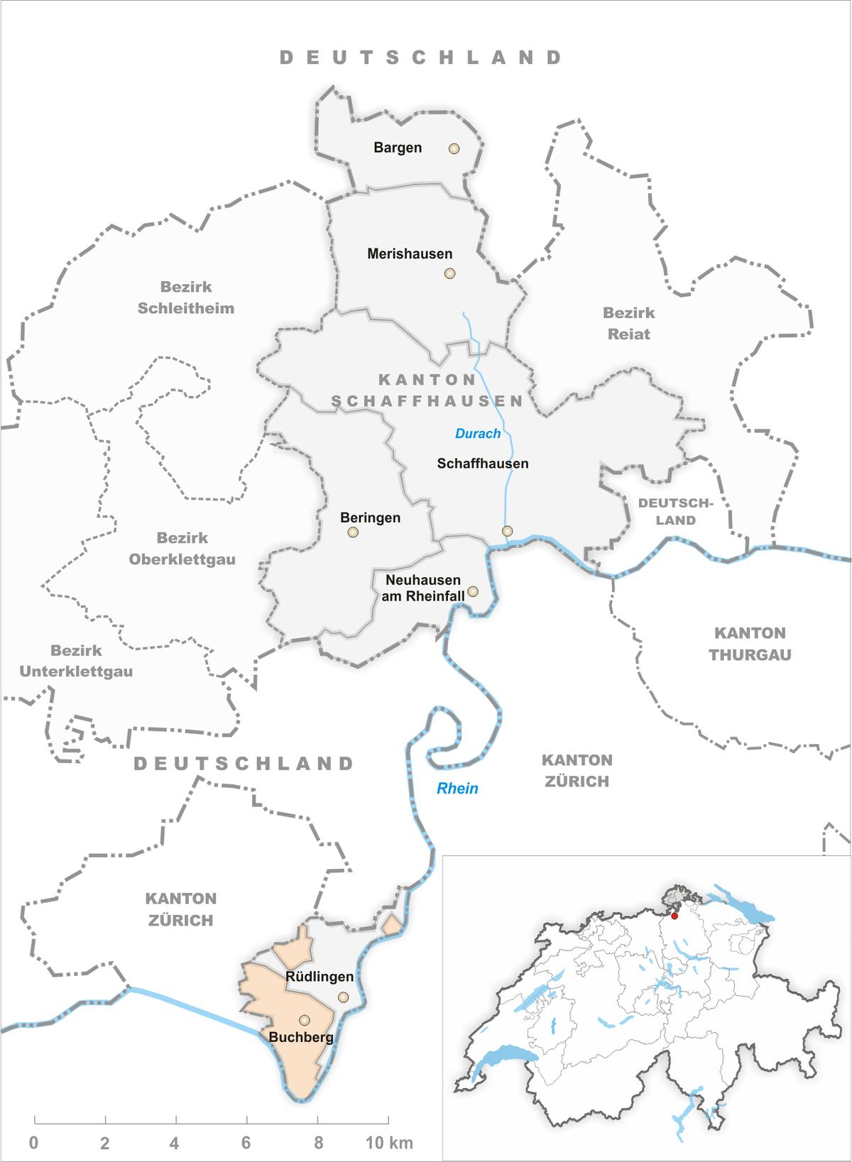 Wo Liegt Schaffhausen
