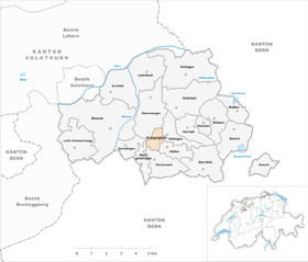 Map of Kriegstetten