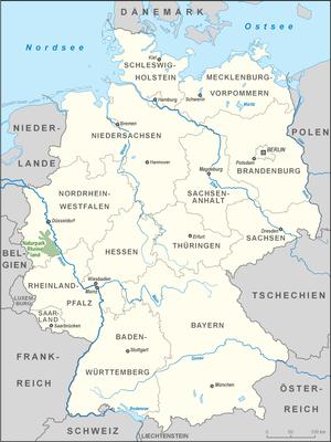 Rhineland Nature Park - location map