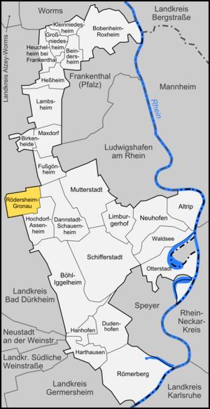 Rödersheim-Gronau - Image: Karte Rödersheim Gronau
