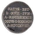 Kastpenning från Karl XIIs begravning, 1719 - Livrustkammaren - 100563.tif
